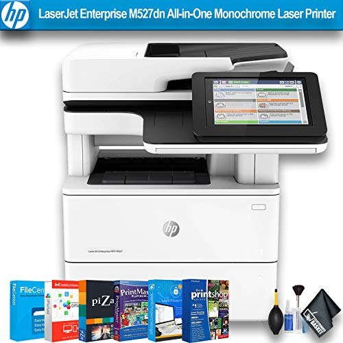 HP Laserjet Enterprise M527dn All-in-One Monochrome Laser Printer with Cleaning Kit - W/Printer Essentials Software