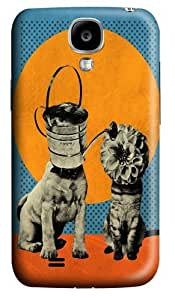 Cats Dogs PC Case Cover for Samsung Galaxy S4 and Samsung Galaxy I9500 3D