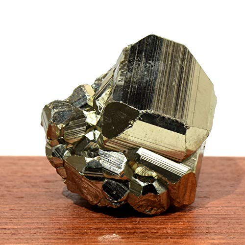 350 Carat Peruvian Golden Pyrite Cubes Cluster Sparkling Quartz Crystal Geode Natural Mineral Stone Fool's Gold