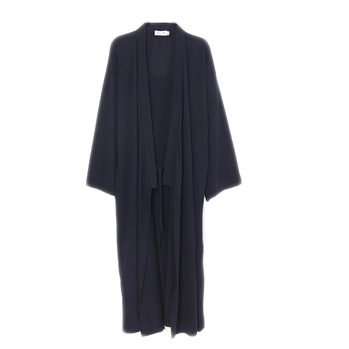 Fancy Pumpkin Trajes de Estilo japonés para Hombres Puro Traje de Pijama de Kimono de algodón Vestido de Bata de baño: Amazon.es: Ropa y accesorios