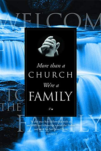 (Welcome Folder-More Than A Church/Water (Pack of 1)