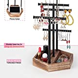 Emfogo Jewelry Organizer Stand Metal & Wood Basic
