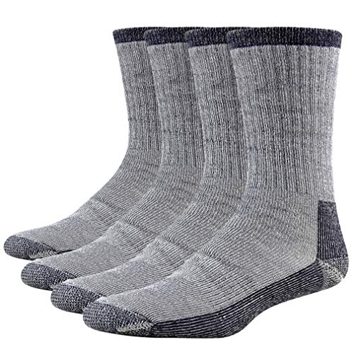 Merino Wool Dress Socks, RTZAT Merino Wool Full Cushion Thickness Thermal Warm Outdoor Hiking Climbing Boot Women Socks 4 Pairs Navy Blue Large