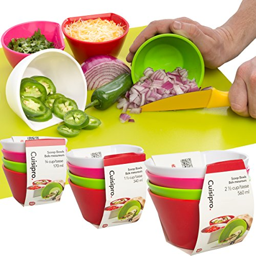 Cuisipro 0.75-Cup 4-Piece Scoop Bowl Measuring Set Cuisipro Bowls
