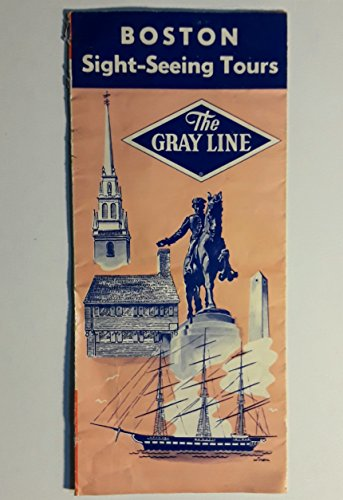Original Mid-Century Postwar Boston Massachusetts Gray Line Sigh-Seeing Tours Brochure
