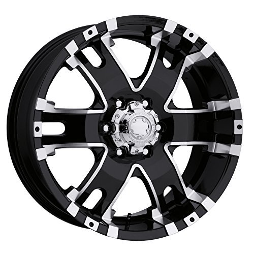 Ultra Wheel 202B Baron Matte Black Wheel with Painted (17 x 9. inches /6 x 135 mm, 25 mm Offset) ()