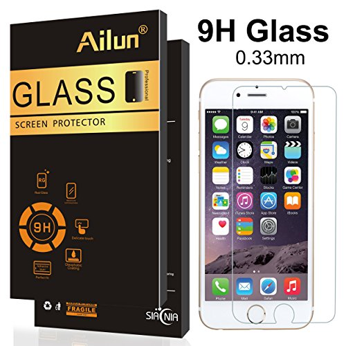 Ailun Screen Protector Compatible iPhone 6 Plus ,iPhone 6s Plus Screen Protector,Tempered Glass,9H Hardness,2.5D Edge,Anti-Scratch,Case Friendy-Siania Retail Package