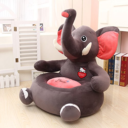 MAXYOYO Super Cute Plush Toy Bean Bag Chair Seat for Children,Cute Animal Plush Soft Sofa Seat,Cartoon Tatami Chairs,Birthday Gifts for Boys and Girls (elephant)