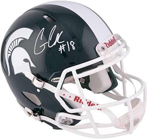 Connor-Cook-Michigan-State-Spartans-Autographed-Speed-Pro-Line-Helmet-Fanatics-Authentic-Certified