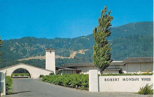 Oakville California Mondavi Winery Street View Vintage Postcard K35659