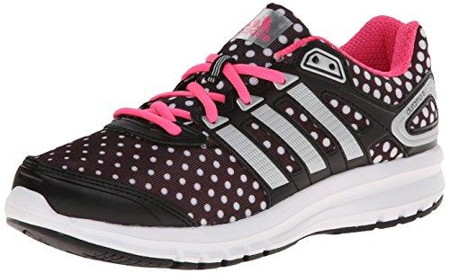 adidas Performance Duramo 6.1 Running Shoe (Little Kid/Big Kid), Black/Silver/Solar Pink, 3.5 M US Big Kid