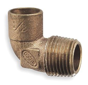 Elbow, 90, Cast Copper, C x MNPT, 1/2 In: Pipe Fittings