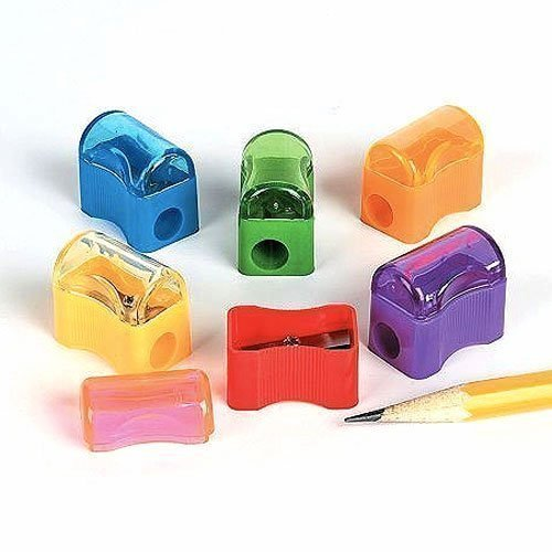 Fun Express Bulk Plastic Pencil Sharpener Assortment (144 Pack)
