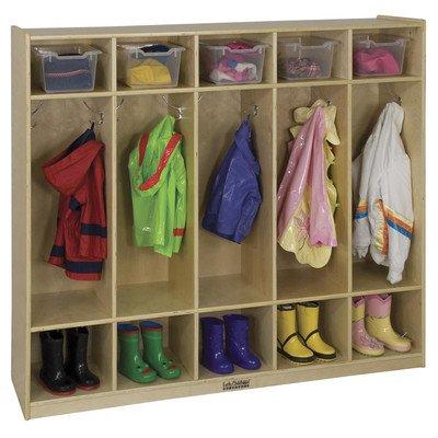 5-Section Birch Straight Coat Locker