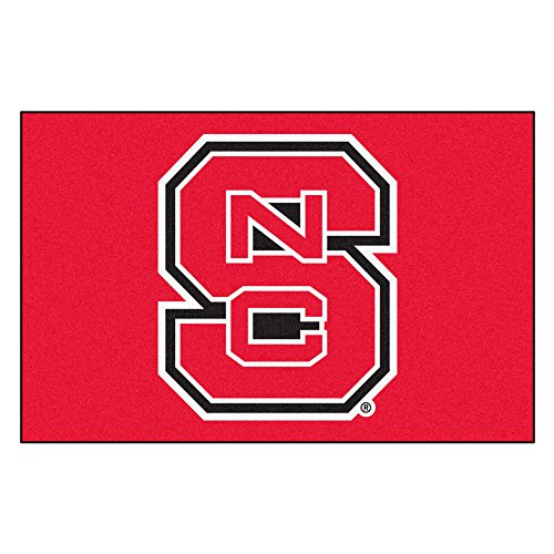 FANMATS NCAA North Carolina State University Wolfpack Nylon Face Starter Rug ()