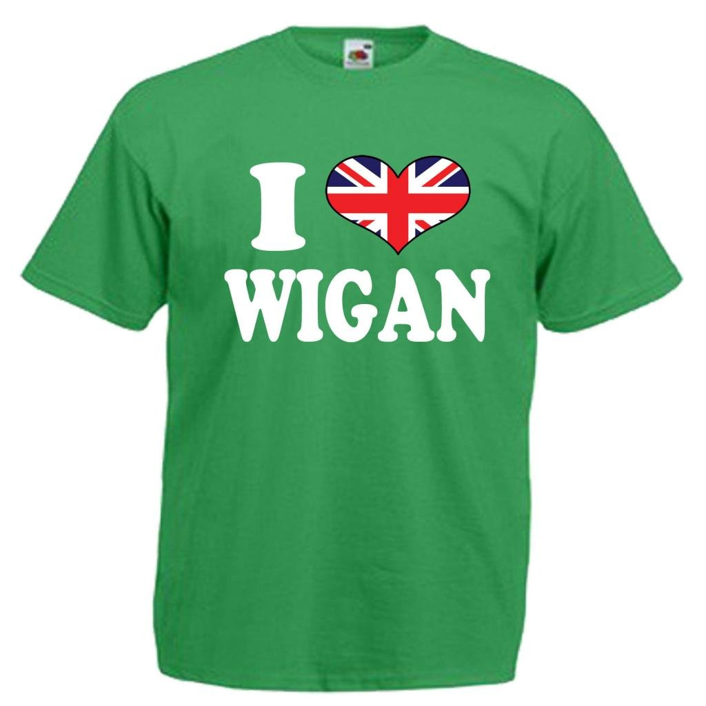 I Love Heart Wigan V-Neck T-Shirt