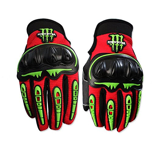 S-Raw Cool Men/Women Full Finger Motorcycle Gloves 3 Colors Outdoor Sports Protective Motocross Gloves Street Bike Off Road Gloves Cycling Racing Gloves Motorcycle Riding Gloves 1 Pair