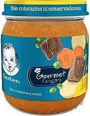 Gerber Papilla GERBER Junior Etapa 4 Comidita res con verduras, 250 gr, Paquete de 12