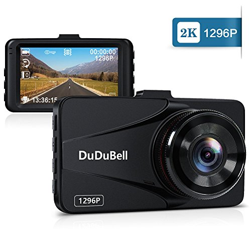 Dash Cam, DuDuBell 2K Car Camera Recorder 170° Wide Angle DVR 3.0″ LCD Screen, 6G Enhanced Night Vision Dashboard Recorder with HDR G-Sensor Loop Recording Parking Monitor, Alloy Shell