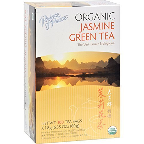 Prince of Peace Organic Jasmine Green Tea 100 tea bags (Pack of 2) - Prince Organic Tea