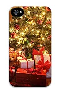 amazing Christmas Tree Decorating amazing Christmas Decorations and amazing Custom iPhone 4s/4 Case Cover Polycarbonate 3D Thanksgiving Day gift