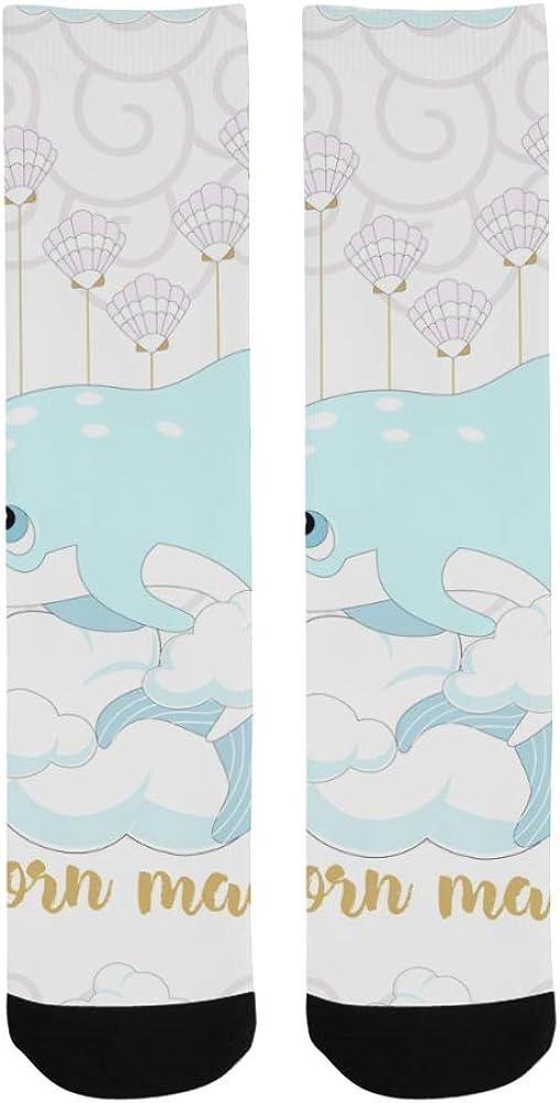 Magic Cute Sea Narwhals Dolphin Unirorn Crazy Dress Troser Sock For bott