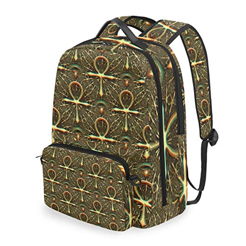 - Ankh Egyptian Symbol 15 Inch Travel Laptop Backpack College School Computer Bags Cross Bag