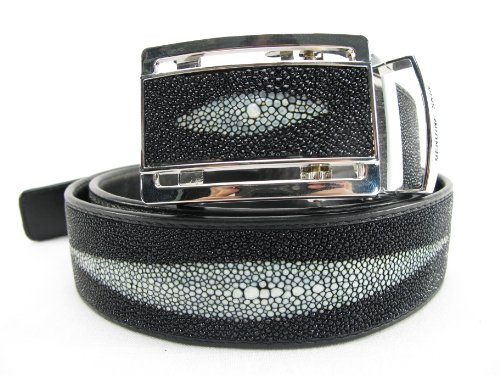 PELGIO Genuine Stingray Shagreen Skin Leather 1 Diamond Men's Belt 46