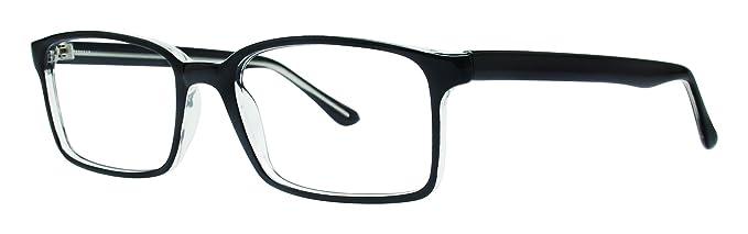 9307c4f0cf3 Landmark Unisex Eyeglasses - Modern Collection Frames - Black Crystal  53-19-140