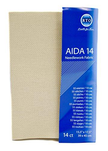 RTO Aida 14 Count 39X45cm-Beige