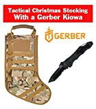 RUCKUP Tactical Christmas Stocking with Molle Gear in Multi Cam with a Free Gerber 22-41405 Kiowa $60 Value