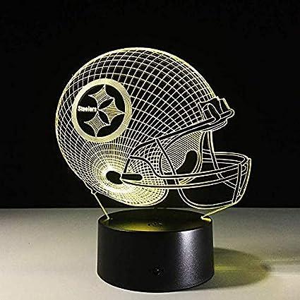 competitive price 0b807 390df Amazon.com: Sykdybz 7 Colors Change 3D Led Night Light NFL ...