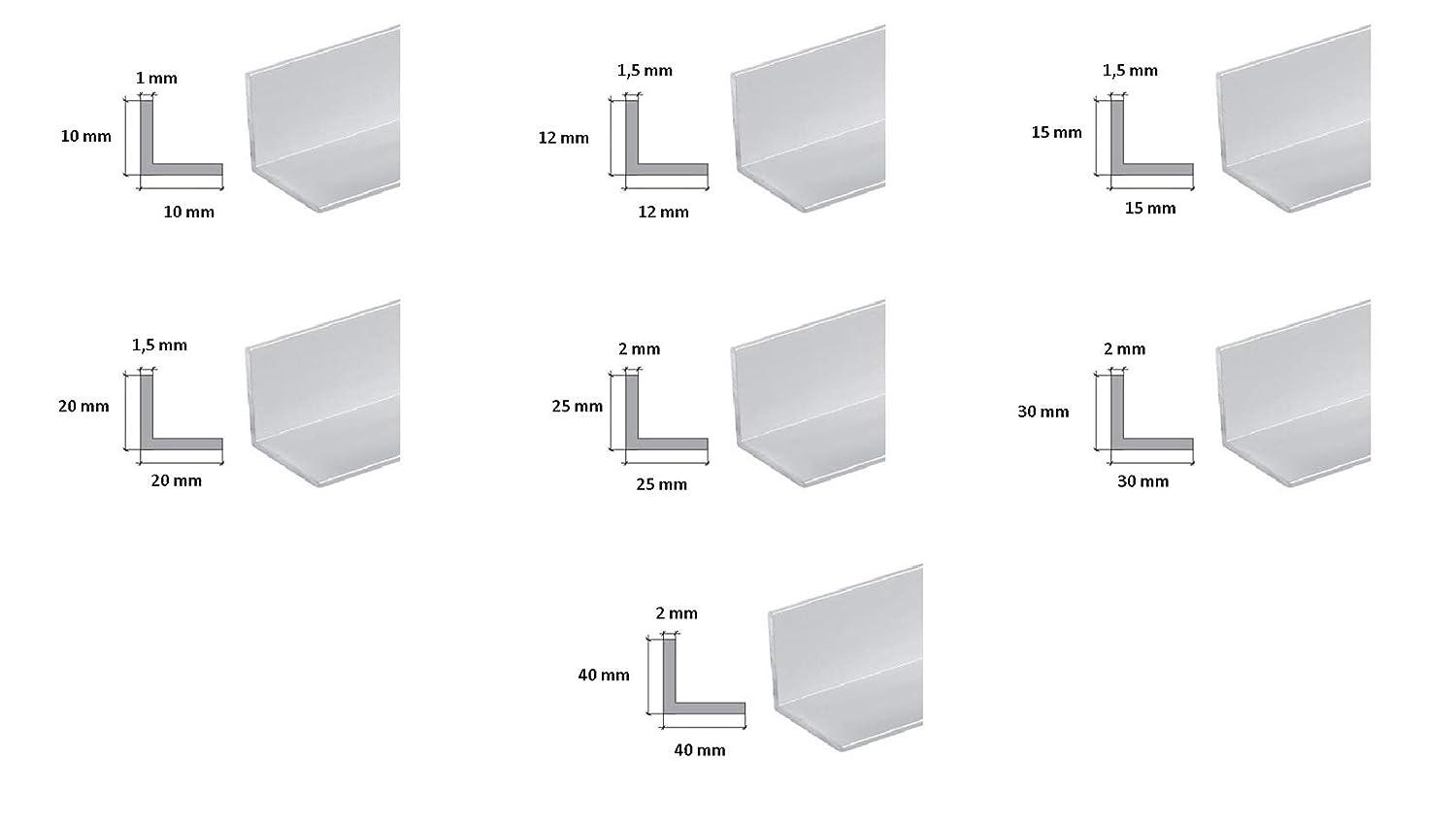 TMW Profiles Various Size 10x10x1 Aluminium Angle 2M LONG Extruded Corner Wall Protector
