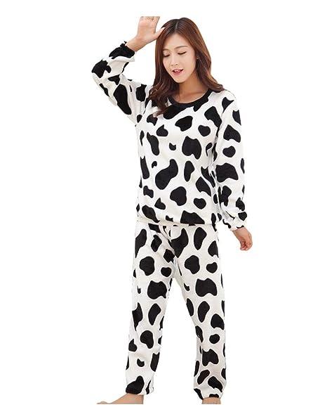 Anguang Unisex Pijamas Set Camisones Mangas y Pantalones Largos Ropa Elegantes Mujer Estilo XL