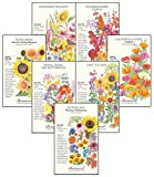 Botanical Interests for The Birds (and Bees and Butterflies) Flower Seed Collection - 7 Large Packets. Attract Birds, Bees, Butterflies, and Other Pollinators to Your Yard.