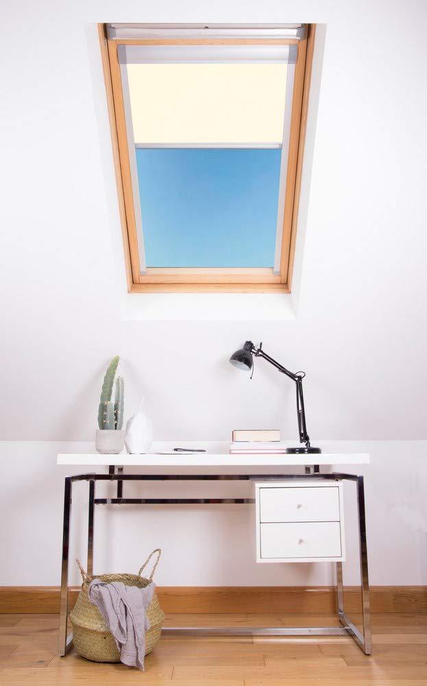 603 x 780 mm colore Bloc Skylight MK04 Velux Tenda oscurante per finestre bianco