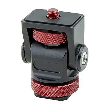 Mini Hot Shoe Stand Camera Monitor Mount 180 Degree Tilt Arm Bracket Upper Rotation 360 Degree Base Rotations Adapter Holder Photo Studio Accessories