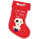 Christmas Shop Pet Dog Stocking (One Size) (Red)