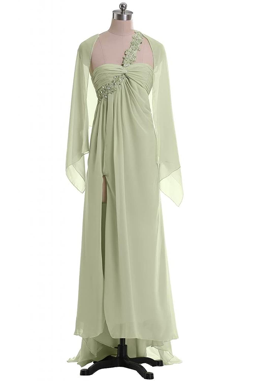 Sunvary Sexy Chiffon One-Shoulder Hi-Lo Shawl Evening Dress Party Dress