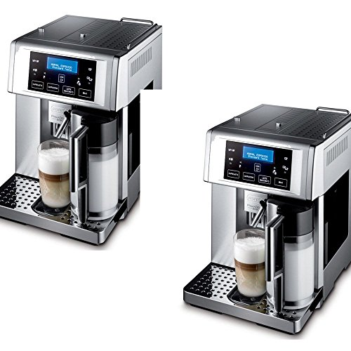 De'Longhi Brushed Metal Die-Cast Fully Automatic Espresso Machine - De'Longhi Model - ESAM6700 - Set of 2 Gift Bundle