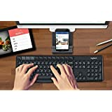 Logitech K375S Multi-Device Wireless Keyboard and Stand Combo (Windows, Android 5.0, Mac OS, iOS, Chrome OS) -International Version- English/Korean Keys