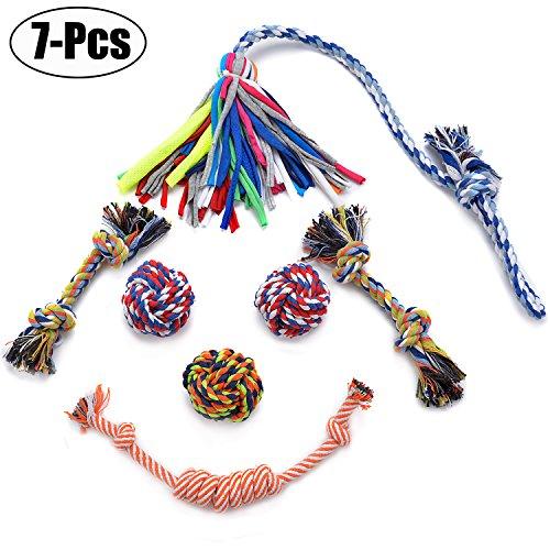Legendog 7 Pcs Dog Rope Toys, Dog Chew Toys, Rope Chew Toys