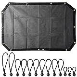 Yescom 07-16 Jeep Wrangler JK JKU Unlimited 2/4 Door Mesh Top Sunshade Cover UV Protect