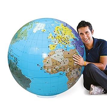 Caly Sarl – 060 F – Globo Hinchable del Mundo – Talla 85 cm