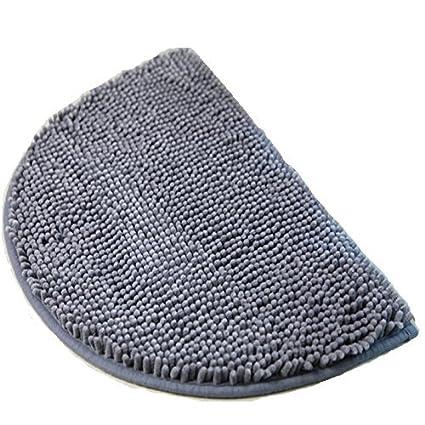 Amazoncom Ustide Small Grey Rug For Dorm Chenille Shag Rug Non
