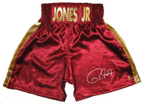 Roy Jones Jr Signed Burgundy Trunks