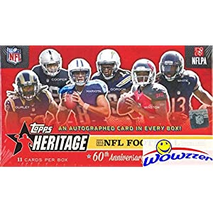 2015 Topps Heritage NFL Football Factory Sealed Box with AUTOGRAPH & FOILBOARD PARALLEL! Look for Autos of Todd Gurley, Emmitt Smith, John Elway, Brett Favre, Marcus Mariota,Dan Marino & More! WOWZZER