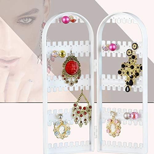 Bijoux cr/éatifs /Écran de visualisation Boucle doreille pliante Support /à panier Bracelet en plastique transparent Organisateur Collier Affichage-Blanc-1 Taille