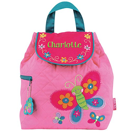 - GiftsForYouNow Quilted Butterfly Personalized Backpack