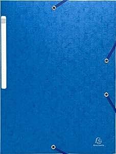 Exacompta 55752E - Pack de 10 carpetas con goma, A4, color azul